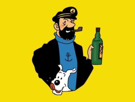 Tintin et le capitaine Haddock.